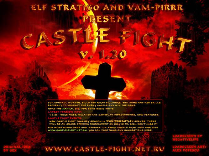 Загрузочный экран карты Castle-Fight 1.20