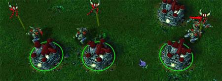 Точка сбора юнитов Castle-Fight